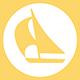 icona barca a vela per indicare svaghi nelle vicinanze