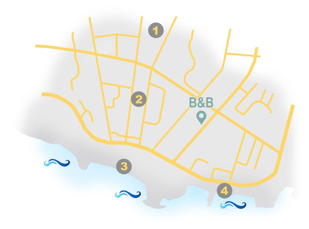 cartina con evidenziate le attività nelle vicinanze
